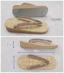 「草履 新品」畳表草履 カジュアル普段着にお薦め 軽装草履 a5m1 足に優しい草履 Mサイズ 訳あり品の処分品