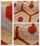 リサイクル袋帯 六通柄 袋帯 アンティーク 赤茶地 金銀箔
