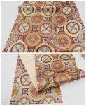 リサイクル 袋帯 正絹 未使用品 中古袋帯 紫茶地 格天井柄 a2m1m5「中古」全通柄 仕立て上がり 新古品 フォーマル帯 送料無料